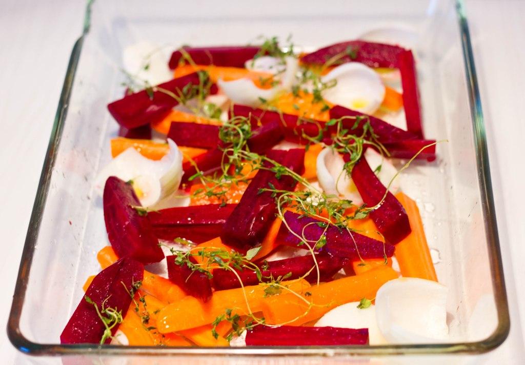 Ovnbagt torsk er sundt og lækkert uden fedt og med grøntsager